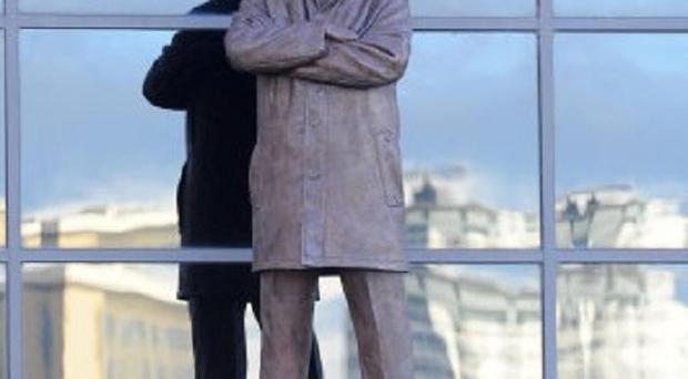 Sir Alex Ferguson has been immortalised by a statue outside Old Trafford