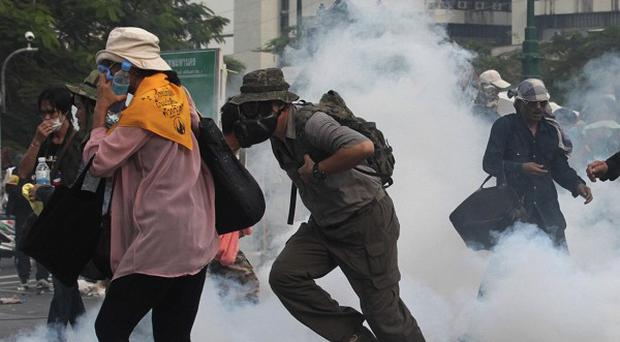 Anti-government protesters gather in Bangkok (AP/Sakchai Lalit)