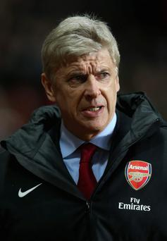 Arsène Wenger watched his side labour to a goalless draw against Aston Villa