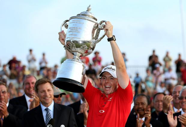 The 12 contenders for this year's BBC Sports Personality of the Year award have been announced ahead of the event to be held at ExCel on December 16. KIAWAH ISLAND, SC - AUGUST 12: Rory McIlroy of Northern Ireland holds up the Wanamaker Trophy after winning the 94th PGA Championship at the Ocean Course on August 12, 2012 in Kiawah Island, South Carolina