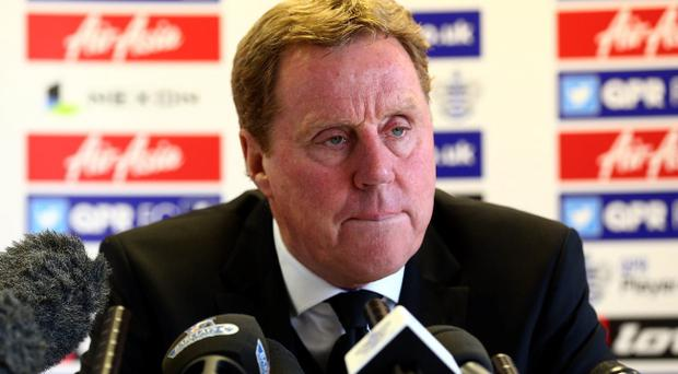 HARLINGTON, ENGLAND - NOVEMBER 26: Harry Redknapp talks during a press conference after being unveiled as the new Queens Park Rangers Manager on November 26, 2012 in Harlington, England. (Photo by Clive Rose/Getty Images)
