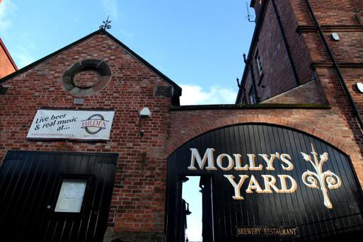 20.11.12. PICTURE BY DAVID FITZGERALD.Molly's Yard Restaurant on Botanic Avenue, Belfast.