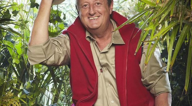 Eric Bristow is the latest celebrity to be doused with creepy crawlies