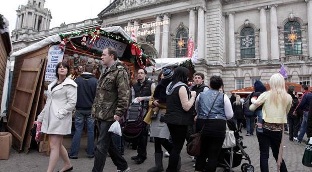 Continental Christmas Market at Belfast City Hall