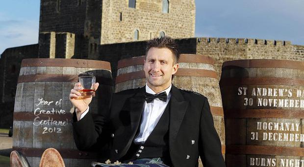 Visit Scotland of Scottish national Simon Danielli, ex-rugby international marks the official launch of Scotland's Winter Festival