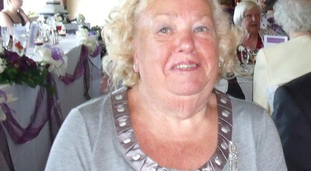 Joyce Moulson, 84, who died after teenage yobs hurled stones at her house, smashing a window