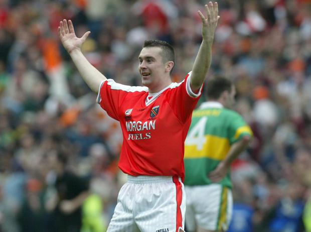 Oisin McConville celebrates back in 2002