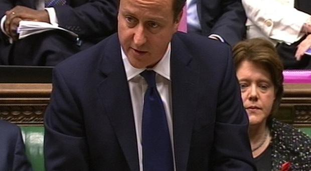 Prime Minister David Cameron makes a statement to MPs on Lord Justice Leveson's report