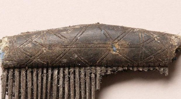 A bone comb uncovered during an archaeological dig just outside Enniskillen, Co Fermanagh (Department of the Envionment Northern Ireland)