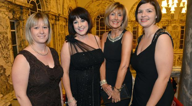 NI Chamber of Commerce President's Banquet at Belfast City Hall. Jaclyn Coulter,Brenda Morgan,Ann McMullan,Deborah Harris