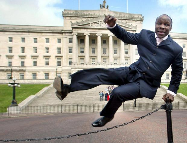 Back in Belfast: Chris Eubank
