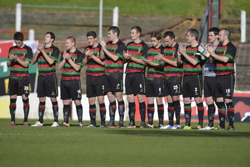 Glentoran players have not been paid for weeks and are now in open revolt against the club