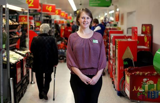 Charlotte Elliott, Regional Manager of Asda in the store in Dundonald