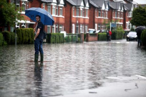 Finaghy was one of the areas badly affected by the deluge in June 2012
