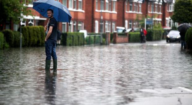 Finaghy was one of the areas badly affected by the deluge in June