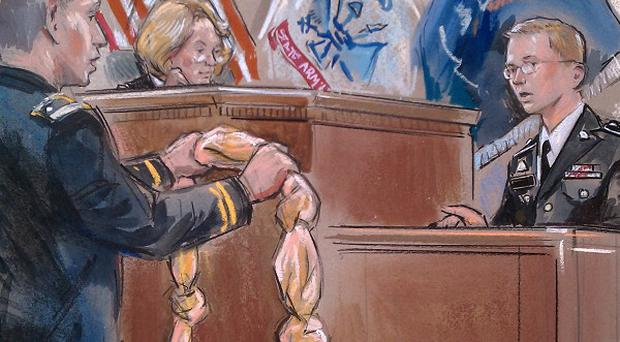 Bradley Manning, the US soldier charged with leaking classified material to WikiLeaks, has spoken of making a noose while he awaited trial