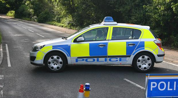 A man has been taken to hospital with severe injuries after crashing a car thought to have been stolen just minutes before