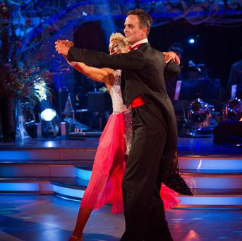 Natalie Lowe and Michael Vaughan (Guy Levi/BBC/PA)