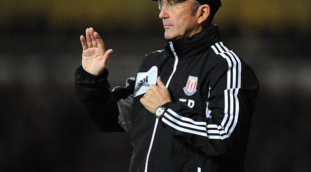 Tony Pulis was relieved to see Stoke win on their travels