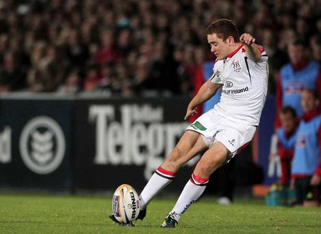 Paddy Jackson kicks Ulster's winning points