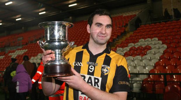 David McKenna of Crossmaglen with the cup