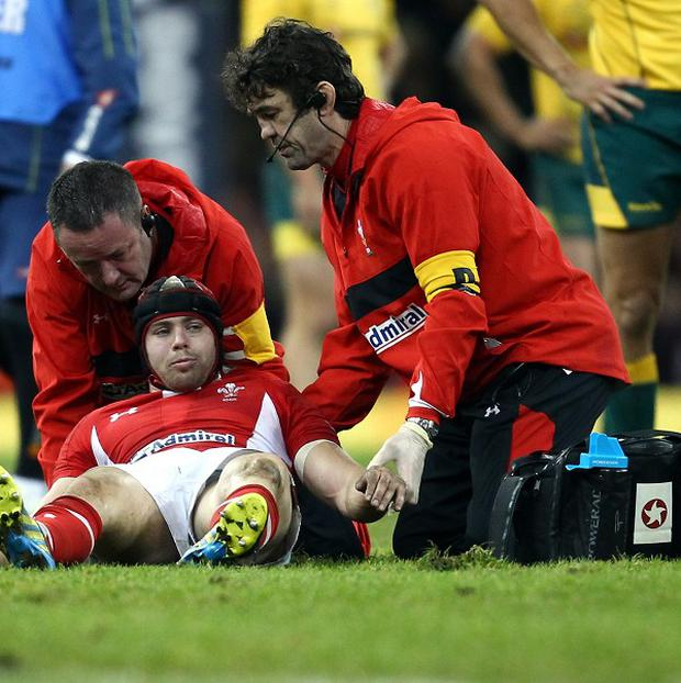 Leigh Halfpenny suffered an injury in Wales' defeat to Australia