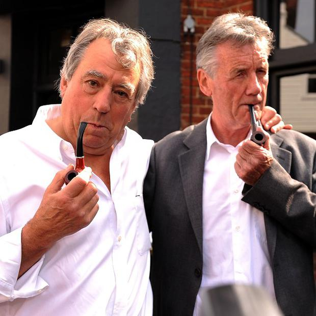 Terry Jones and Michael Palin were in court for the Monty Python profits case
