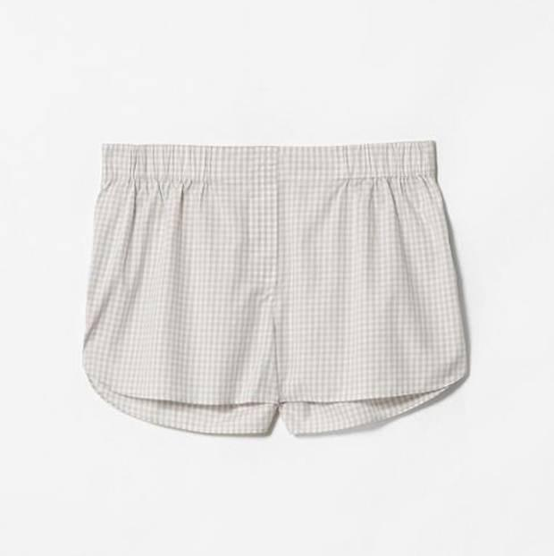 <b>1. Shorts, £25, Cos, cosstores.com</b><br/> If you're the type that overheats in bed, a pair of cool cotton shorts are just the thing. Modelled after men's boxers, the fly front on this cute gingham pair is thankfully a fake.
