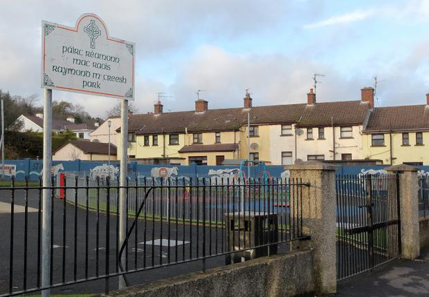 The playpark in Newry named after IRA gunman hunger striker Raymond McCreesh