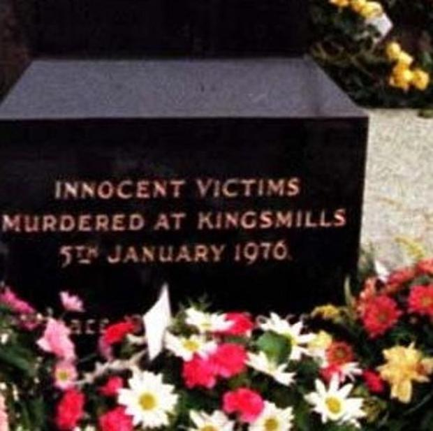 A memorial to victims of the Kingsmills killing has been vandalised in a sectarian attack in South Armagh