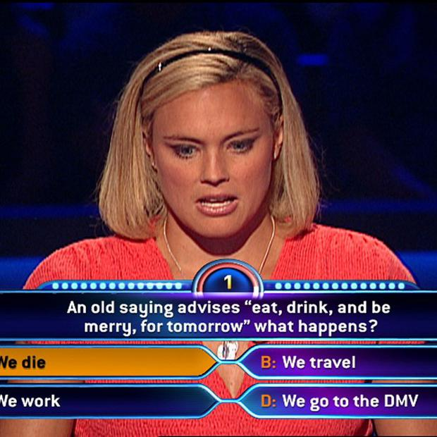 A contestant on the US version of Who Wants To Be A Millionaire? (AP Photo/Disney-ABC Domestic Television)