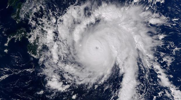 A satelllite view of typhoon Bopha moving toward the Philippines (AP)