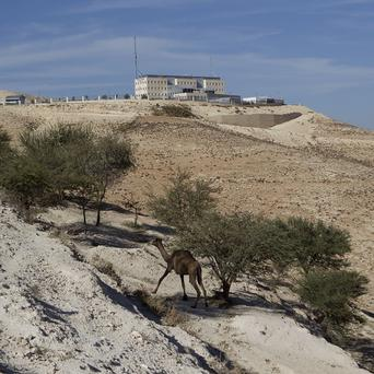 Israeli police headquarters in the E-1 controversial construction site (AP)