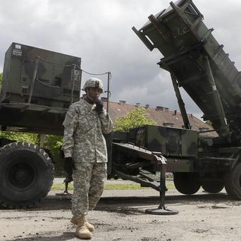 A US soldier with a Patriot missile battery (AP)