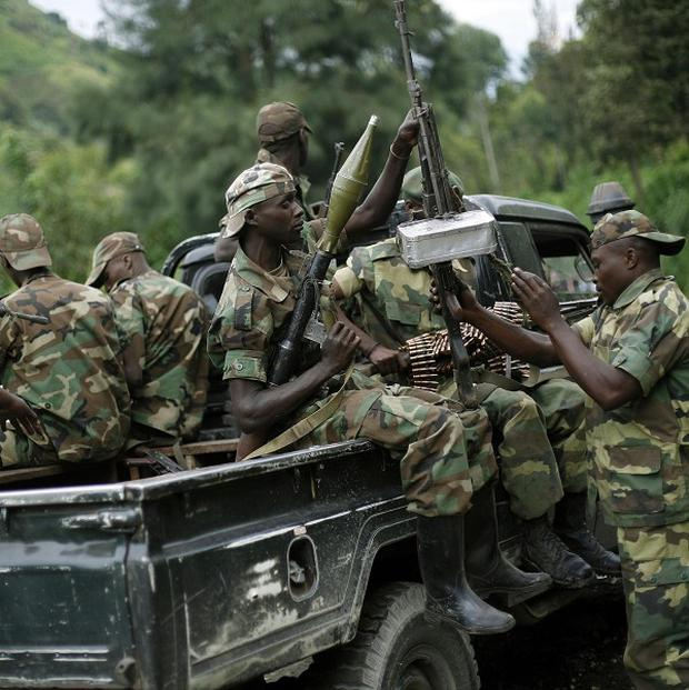 M23 rebels withdraw from the Masisi and Sake areas in the eastern Congo town of Sake (AP/Jerome Delay)