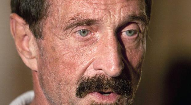 Software company founder John McAfee in Guatemala City (AP)