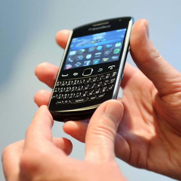 A BlackBerry Curve reportedly burst into flames, injuring an 11-year-old boy