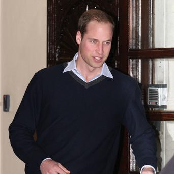 The Duke of Cambridge leaves the King Edward VII hospital in London after visiting his wife