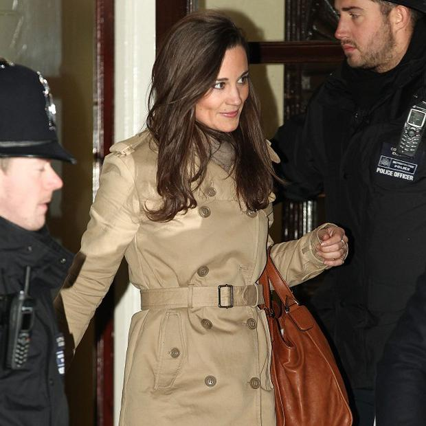 Pippa Middleton leaves the King Edward VII hospital in London after visiting her sister, the Duchess of Cambridge