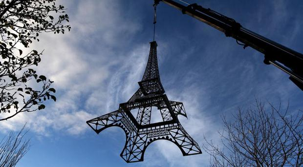 Eiffel Tower replica at La Bastille on Lisburn Road, Belfast