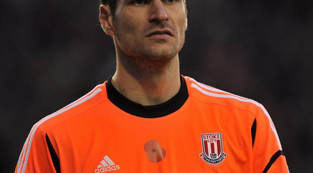 Goalkeeper Asmir Begovic insists he is happy with life at Stoke