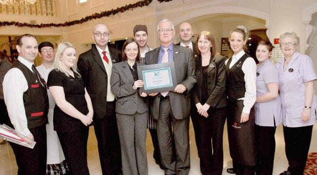 John Toner with colleagues at Hastings Hotels