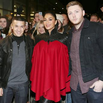 X Factor judge Nicole Scherzinger will duet with finalists James Arthur and Jahmene Douglas