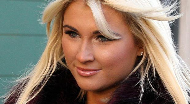 Billie Faiers at the Old Bailey for the sentencing of her step-father, David Chatwood