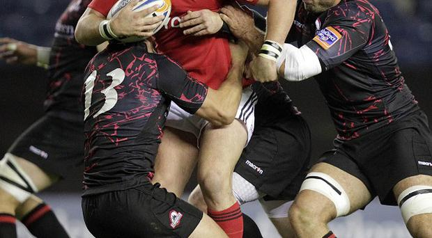 James Downey, centre, is expecting a tough challenge when Munster take on Saracens