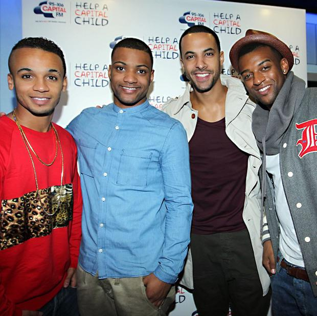 JLS handed out gifts to raise awareness of cancer in young people