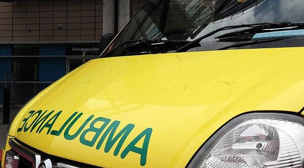 An elderly woman died after the ambulance she was in crashed near Boston in Lincolnshire