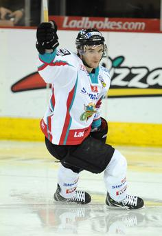 Darryl Lloyd scored for the eighth time this season as the depleted Belfast Giants beat Edinburgh