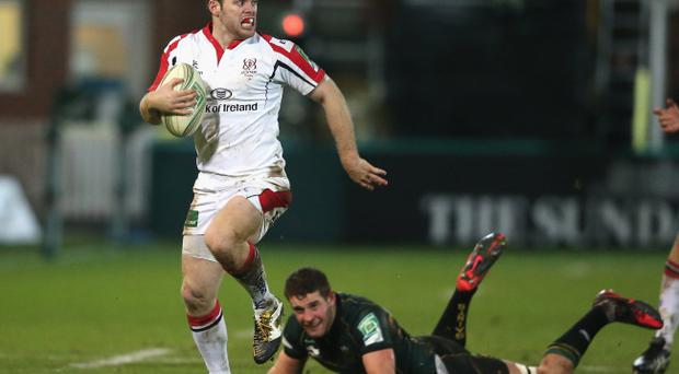 Darren Cave bursts through against Northampton as Ulster continued to see off all-comers, but they still have some way to go to match the achievements of the European Cup heroes of 1999 or the 2006 Celtic League winners