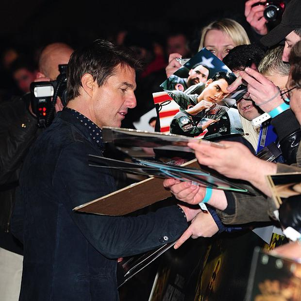 Tom Cruise arriving for the premiere of Jack Reacher at the Odeon Leicester Square